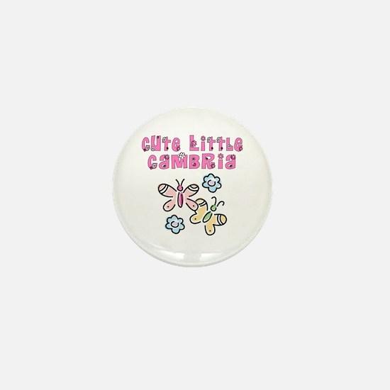 Cute Little Cambria Mini Button