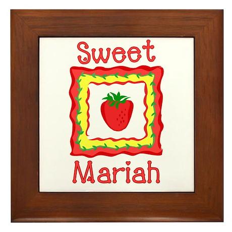 Sweet Mariah Framed Tile