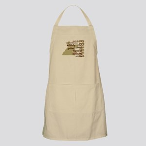 Brown Reining Horse Terms BBQ Apron