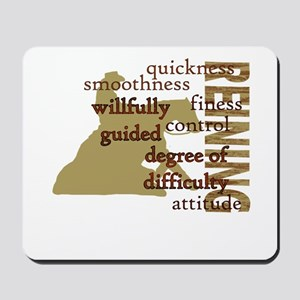 Brown Reining Horse Terms Mousepad