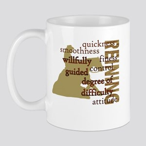Brown Reining Horse Terms Mug