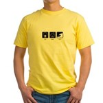 Eat, Sleep, Surf - Yellow T-Shirt