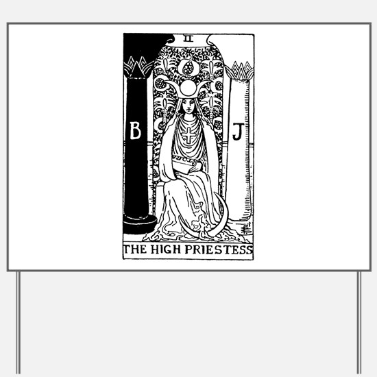 The High Priestess Rider-Waite Tarot Card Yard Sig