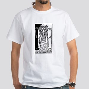 The High Priestess Rider-Waite Tarot Card White T-