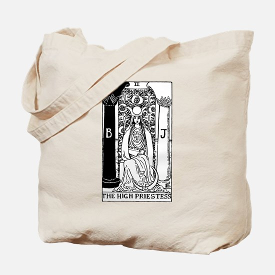 The High Priestess Rider-Waite Tarot Card Tote Bag