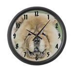 Chow Chow Large Wall Clock