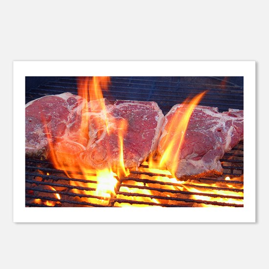 T-Bone Steak Postcards (Package of 8)
