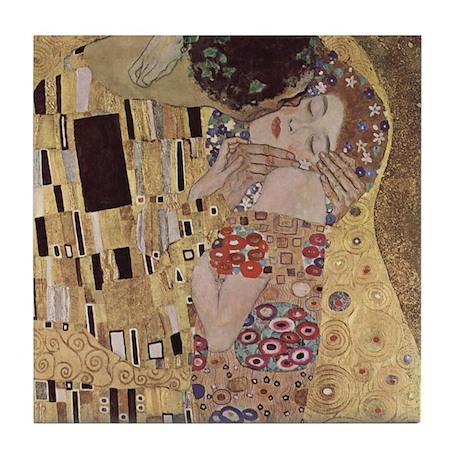 Klimt's The Kiss Tile Coaster
