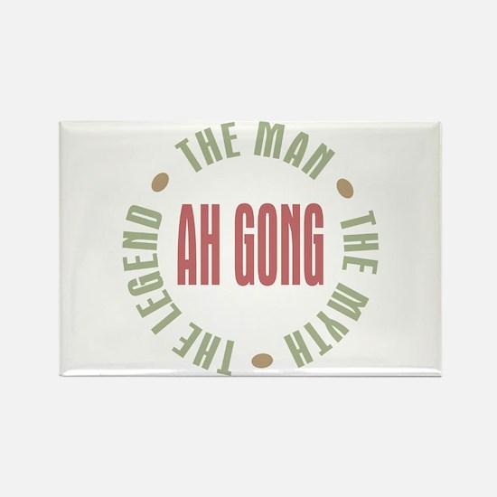 Ah Gong Chinese Grandpa Man Myth Rectangle Magnet