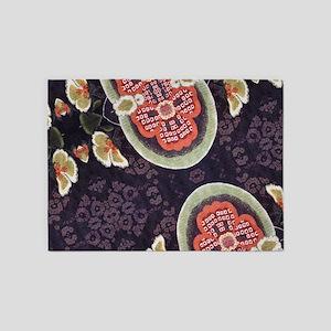 floral patten japanese textile 5'x7'Area Rug