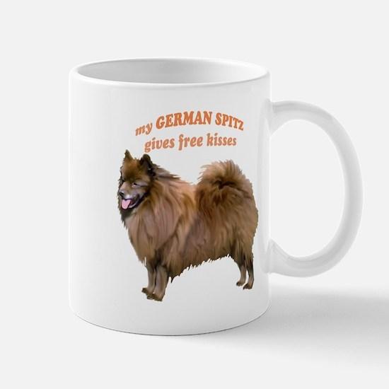 German Spitz kisses Mug