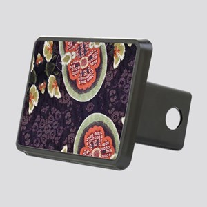 floral patten japanese kim Rectangular Hitch Cover