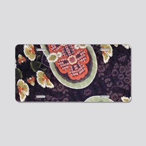 floral patten japanese kimo Aluminum License Plate