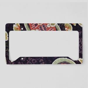 floral patten japanese kimono License Plate Holder