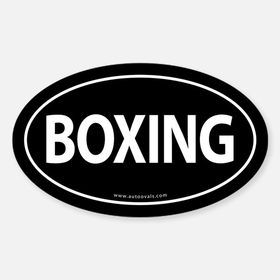 Boxing Traditional Auto Sticker -Black (Oval)