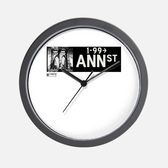 Ann Street in NY Wall Clock