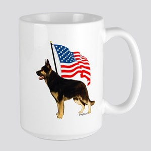 Patriotic German Shepherd Large Mug