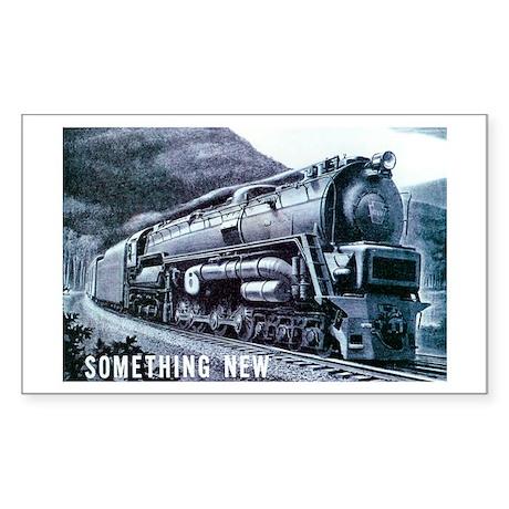Baldwin S-2 Steam Locomotive Rectangle Sticker