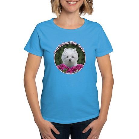 Westie Circle Women's Dark T-Shirt