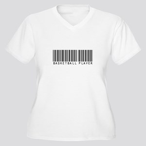 Basketball Player Barcode Women's Plus Size V-Neck
