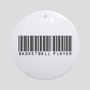 Basketball Player Barcode Ornament (Round)