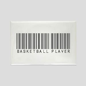 Basketball Player Barcode Rectangle Magnet