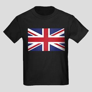 Flag of the United Kingdom Kids Dark T-Shirt