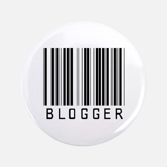 "Blogger Barcode 3.5"" Button (100 pack)"