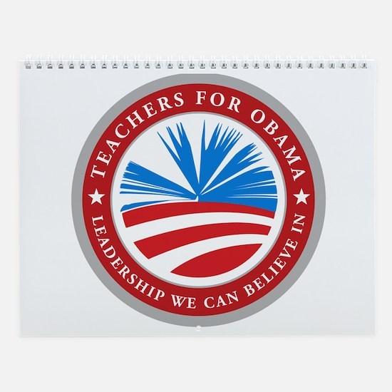 Teachers For Obama Wall Calendar