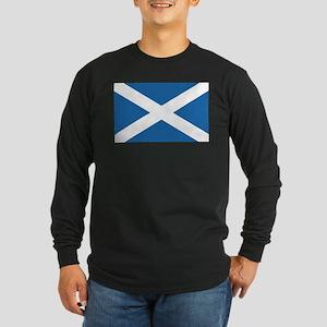 Flag of Scotland Long Sleeve Dark T-Shirt