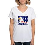 Let's Roll Women's V-Neck T-Shirt