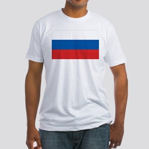 Flag of Russia Fitted T-Shirt