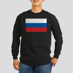 Flag of Russia Long Sleeve Dark T-Shirt