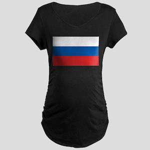 Flag of Russia Maternity Dark T-Shirt