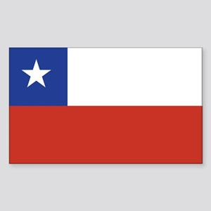 Flag of Chile Rectangle Sticker