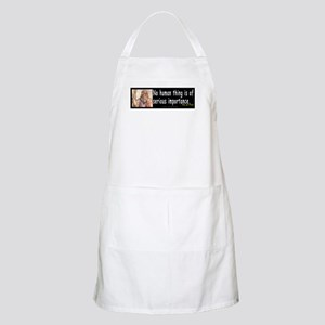 Plato: No human thing is of s BBQ Apron
