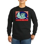 Lady Liberty Long Sleeve Dark T-Shirt