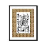 9x12 Framed Panel Print Nichiren's Final Gohon