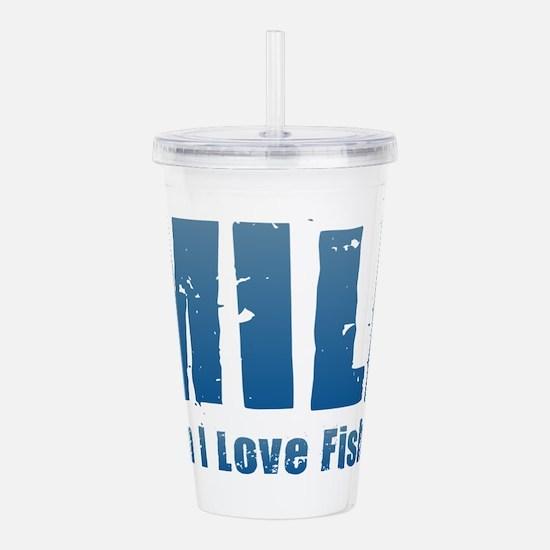 MILF - Man I Love Fish Acrylic Double-wall Tumbler