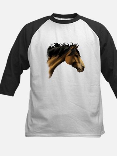 BuckSkin Horse Face Kids Baseball Jersey