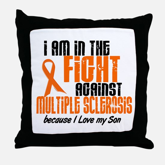 In The Fight Against MS 1 (Son) Throw Pillow