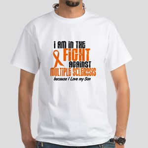 In The Fight Against MS 1 (Son) White T-Shirt