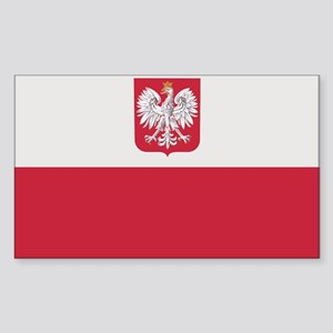 Flag of Poland Rectangle Sticker
