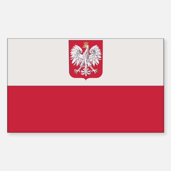 Flag of Poland Rectangle Decal