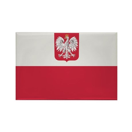 Flag of Poland Rectangle Magnet