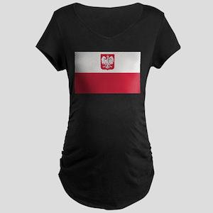 Flag of Poland Maternity Dark T-Shirt