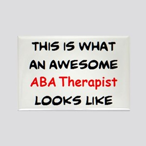awesome aba therapist Rectangle Magnet