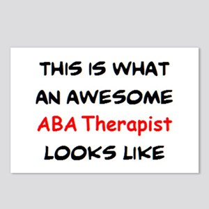 awesome aba therapist Postcards (Package of 8)