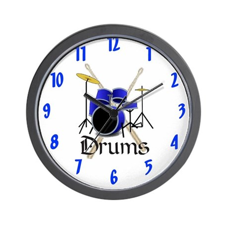 Joe's Drums Wall Clock