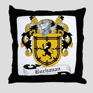 Buchanan Family Crest Throw Pillow